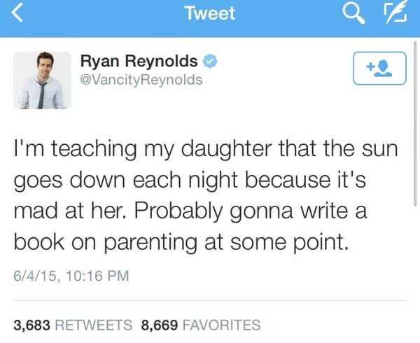 Ryan Reybolds twitter is gold 10