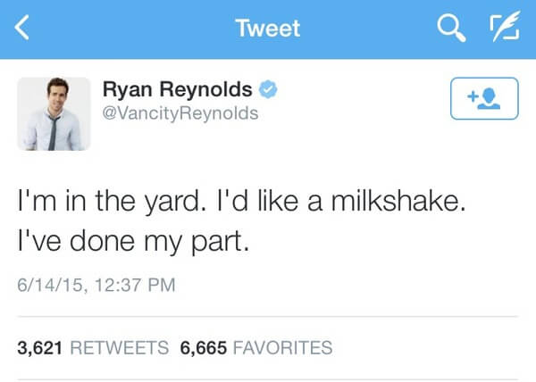 Ryan Reybolds twitter is gold 6