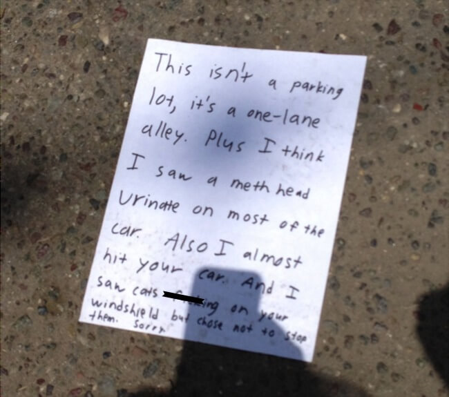 hilarious parking notes 2