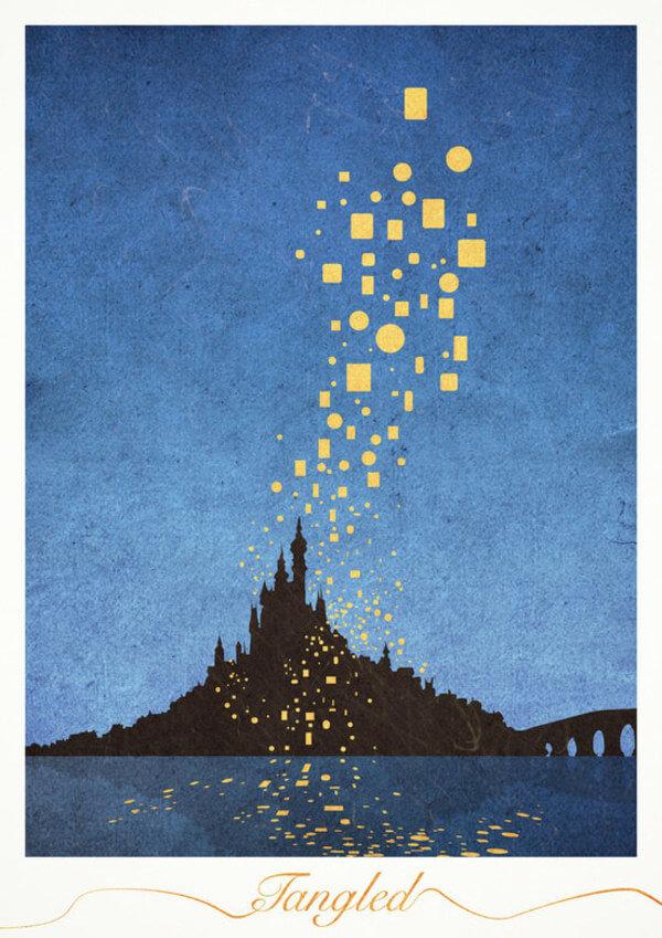 minimalist posters of disney movies 4