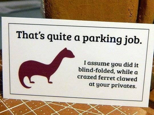 hilarious parking notes 12