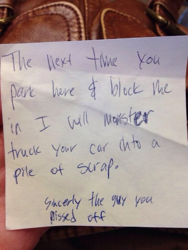 hilarious parking notes 17