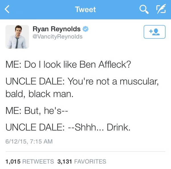 Ryan Reybolds twitter is gold 7