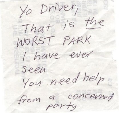 hilarious parking notes 28