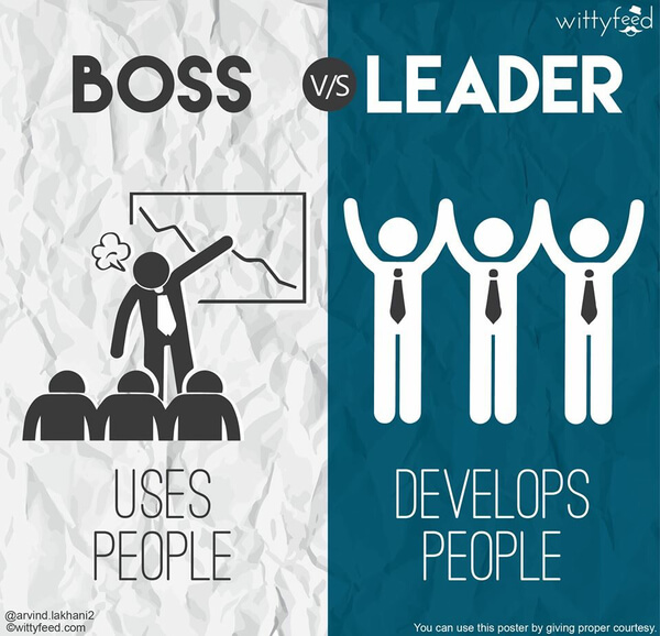 the difference between a boss and a leader 6