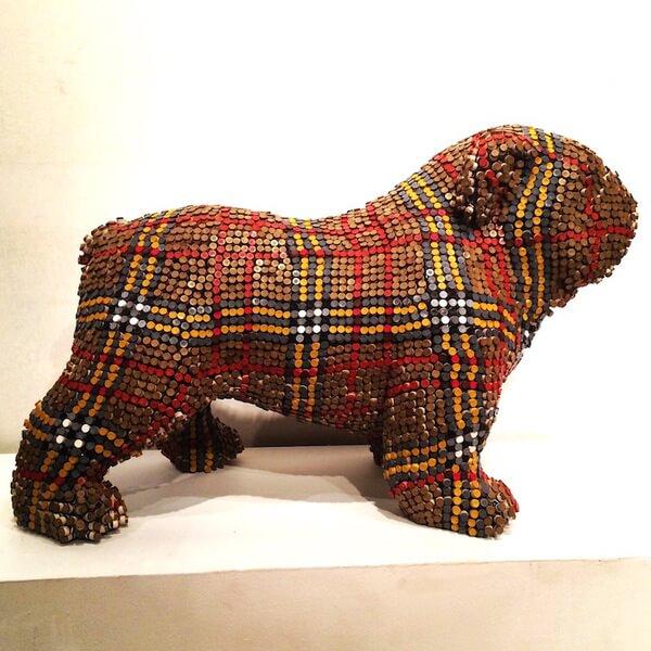 Herb Williams crayon dog sculptures 4
