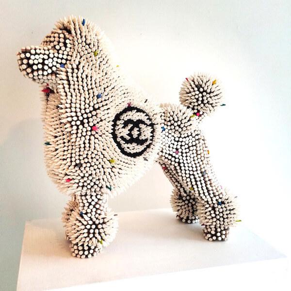 Herb Williams crayon dog sculptures 1