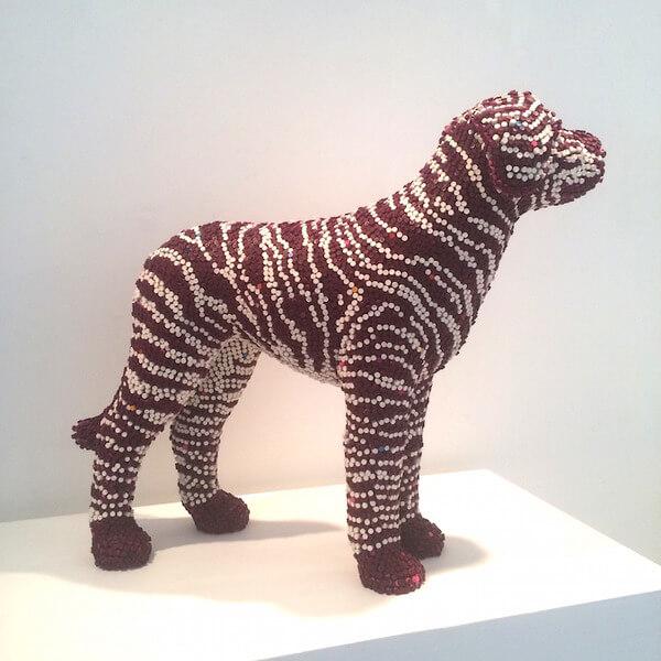 Herb Williams crayon dog sculptures 6