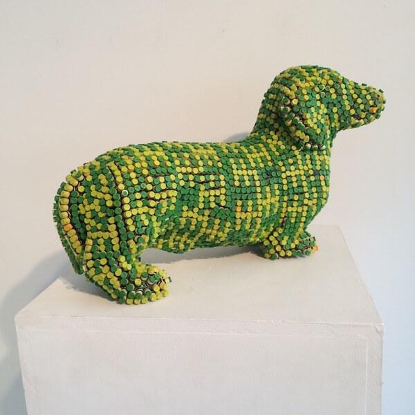 Herb Williams crayon dog sculptures 7