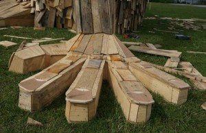 giant sculptures created from scrap wood 3
