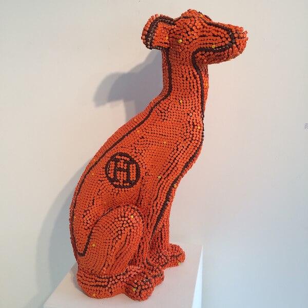 Herb Williams crayon dog sculptures 2