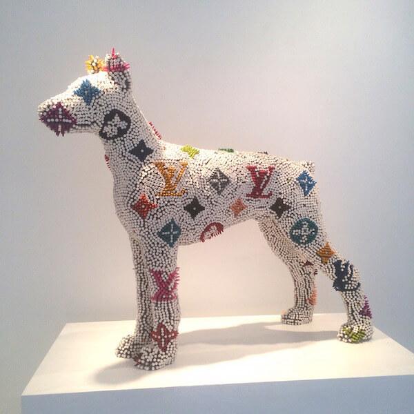 Herb Williams crayon dog sculptures 8