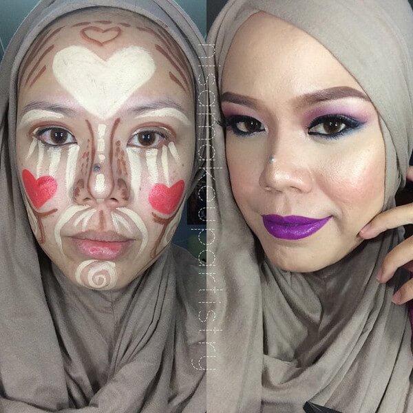 clown contouring makeup 3