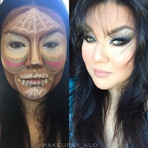 clown contouring makeup 4