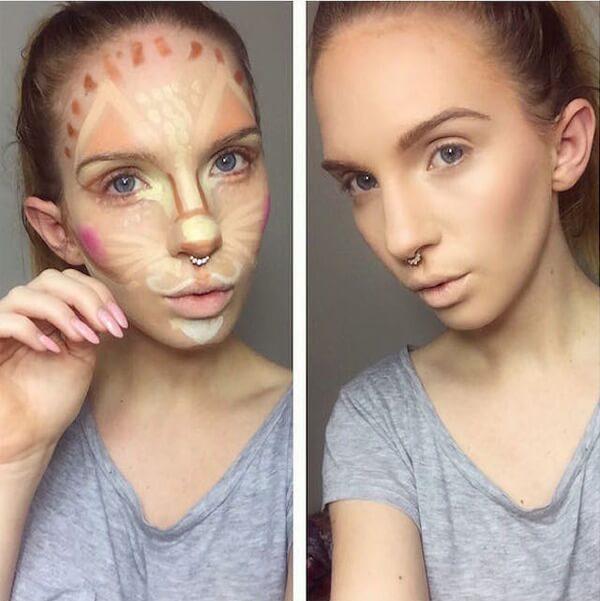 clown contouring makeup 5