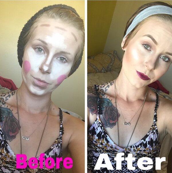 clown contouring makeup 6
