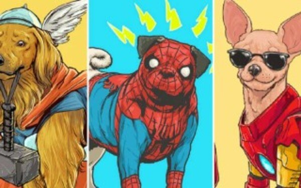 Marvel Superheroes As Adorable Dogs