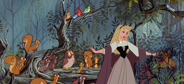 Princess aurora forest