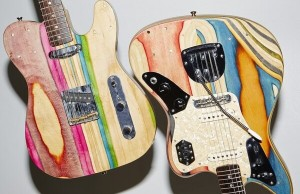 guitars from recycled skateboards 1