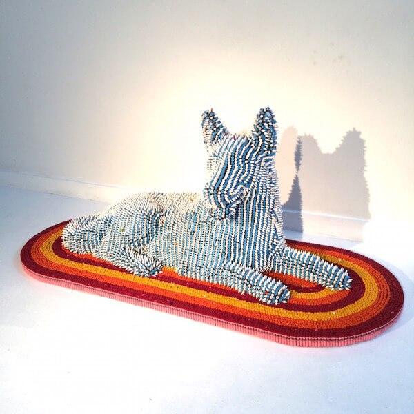 Herb Williams crayon dog sculptures 3