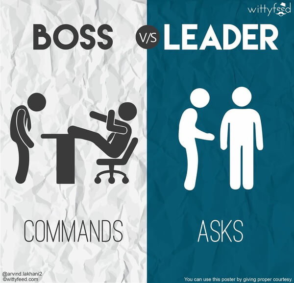 the difference between a boss and a leader 8