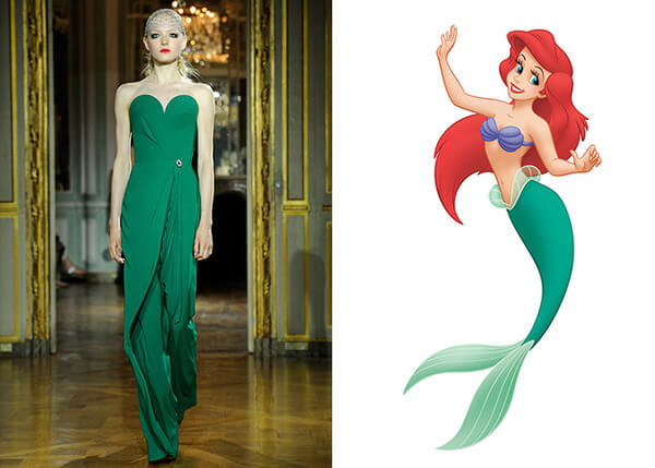 if Disney characters wore couture gowns 2