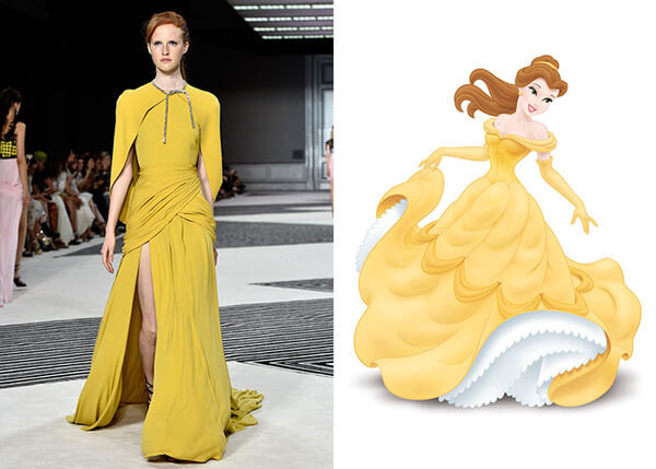 if Disney characters wore couture gowns 8