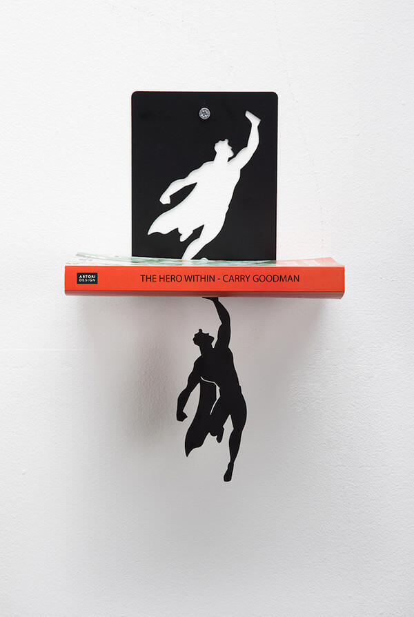 super hero book stand 5