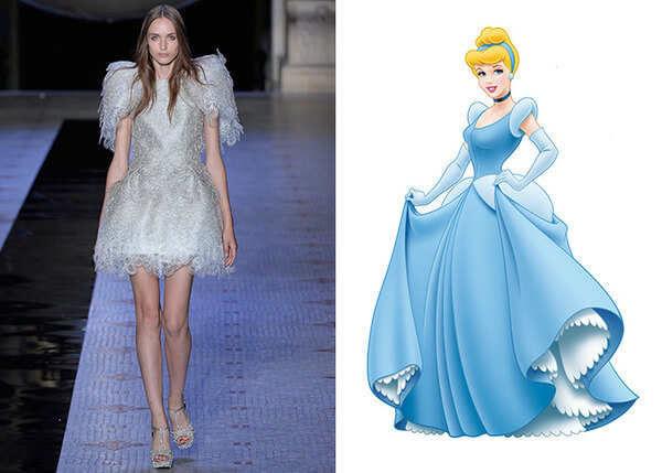 if Disney characters wore couture gowns 7