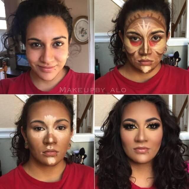 clown contouring makeup 7