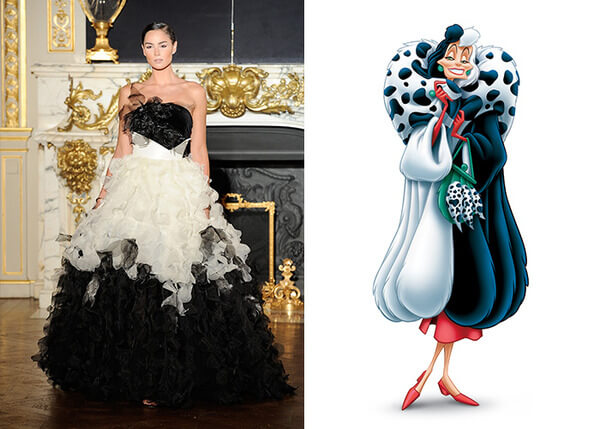 if Disney characters wore couture gowns 5