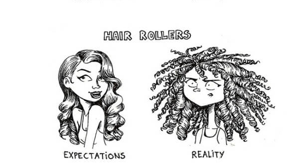 Womens Hair Expectations Vs Reality In Funny Illustrations