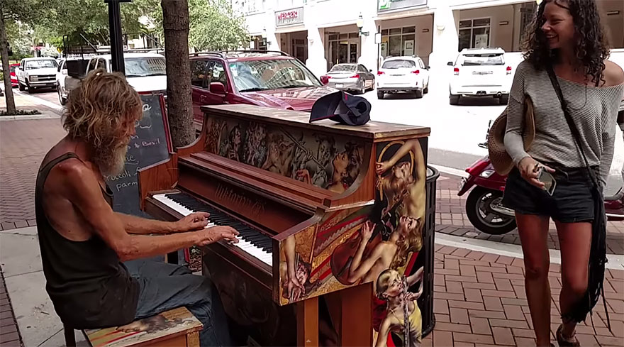 homeless man plays piano 2
