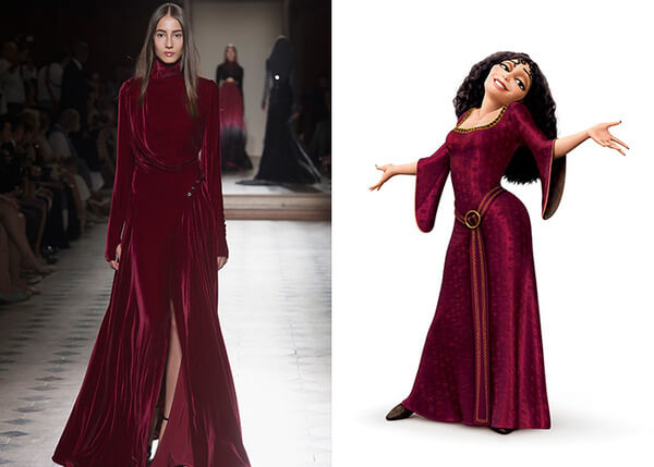 if Disney characters wore couture gowns 4