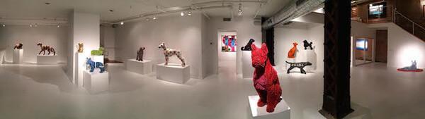Herb Williams crayon dog sculptures 9
