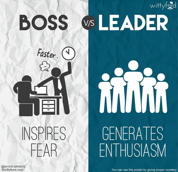 the difference between a boss and a leader 5