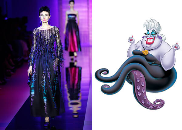 if Disney characters wore couture gowns 1