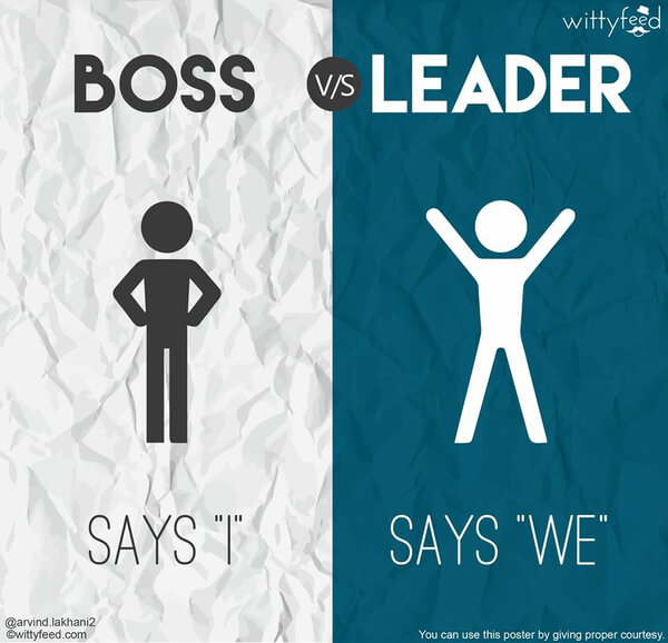 the difference between a boss and a leader 4
