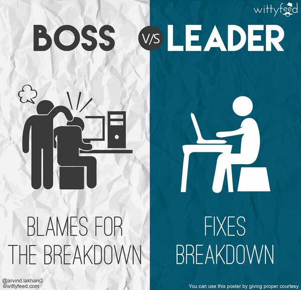 the difference between a boss and a leader 3