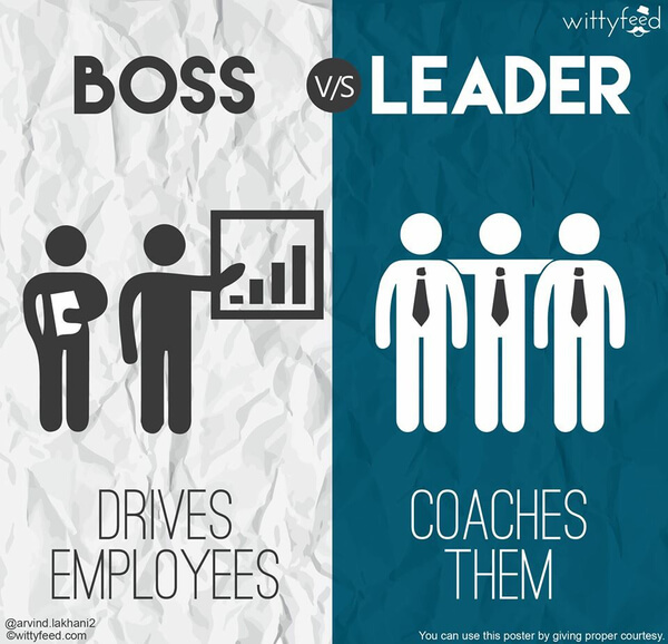 the difference between a boss and a leader 7