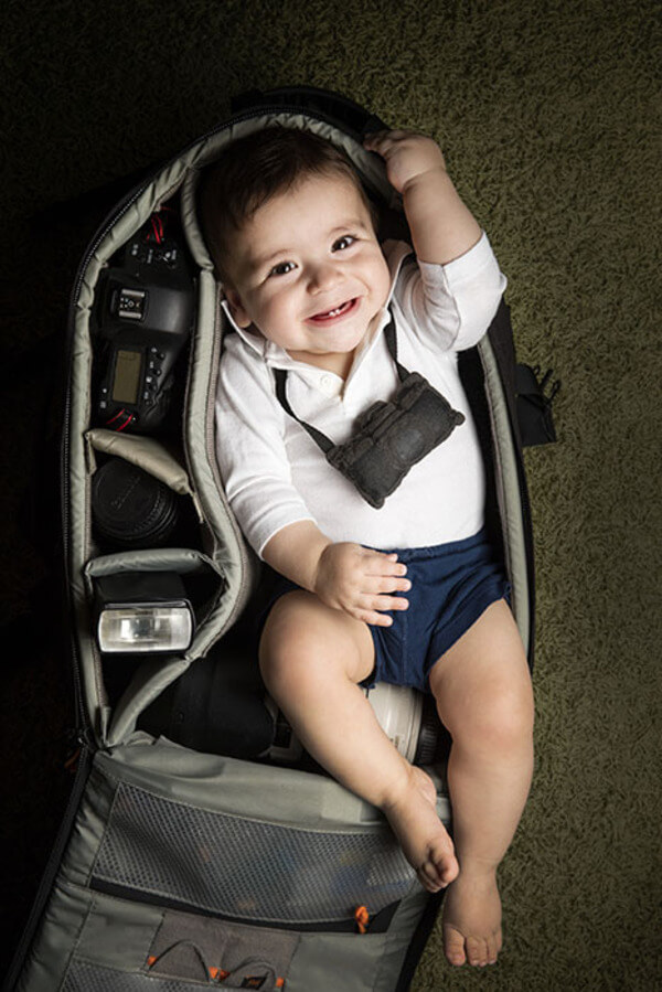 portraits of babies in camera bags 5