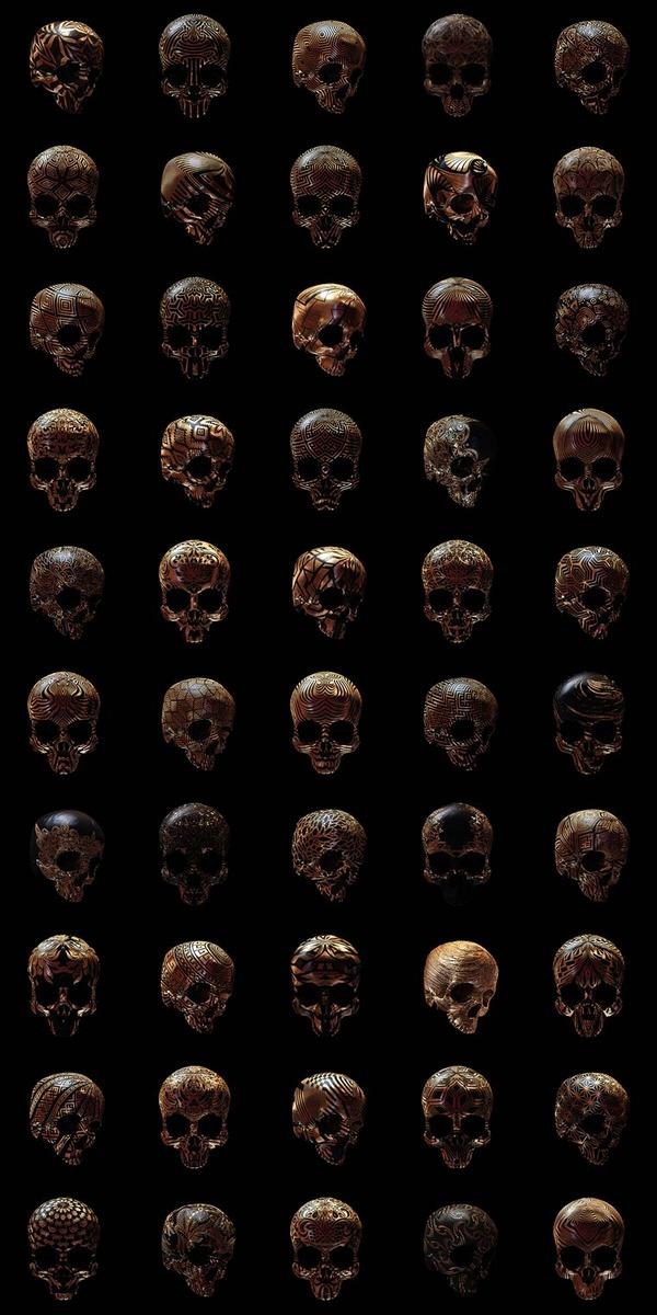 decorated skulls 24