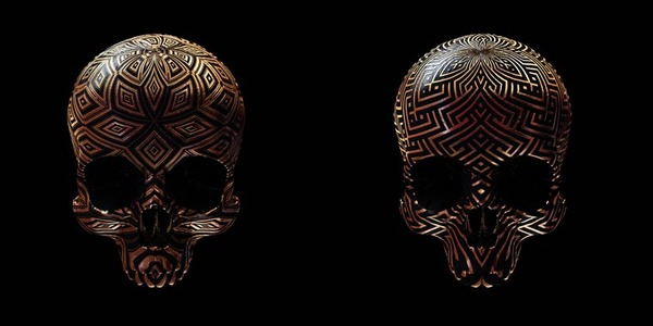 decorated skulls 16