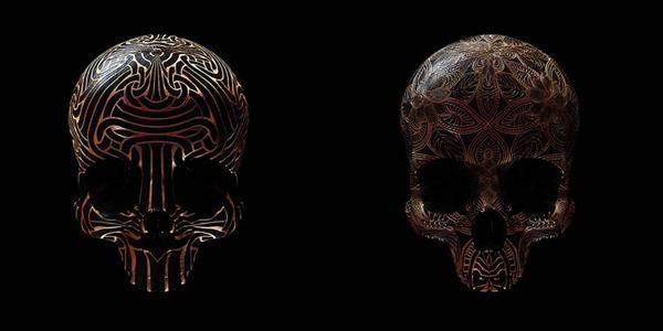 decorated skulls 17