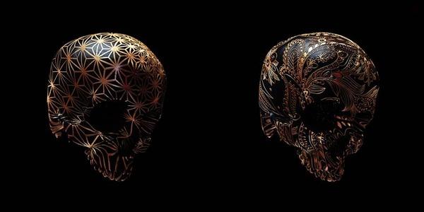decorated skulls 18