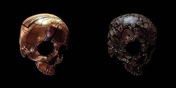 decorated skulls 23