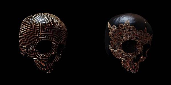 decorated skulls 4