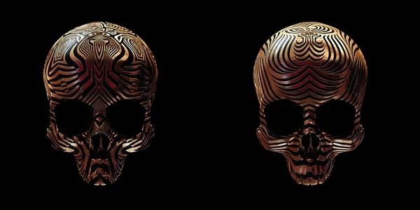 decorated skulls 14