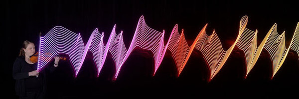 LED lights show music movement 7