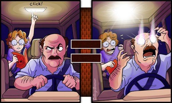 reality vs dad vision 5